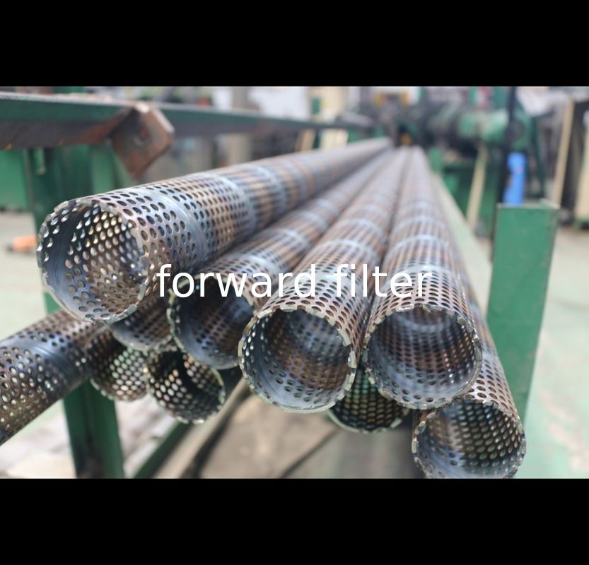 Round Hole Pattern Perforated Stainless Steel Tube , Custom Length Perforated Filter Tube